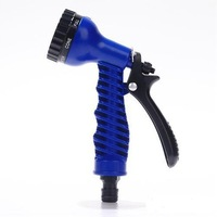 Free shipping Spray Gun / Shower Nozzle with a internal thread- 7 Sets Function - Matched USA / EU Standard ~ Blue/Green Color
