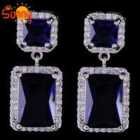 Fashion Jewellery  blue&white sapphire 10KT Laday's   Earrings