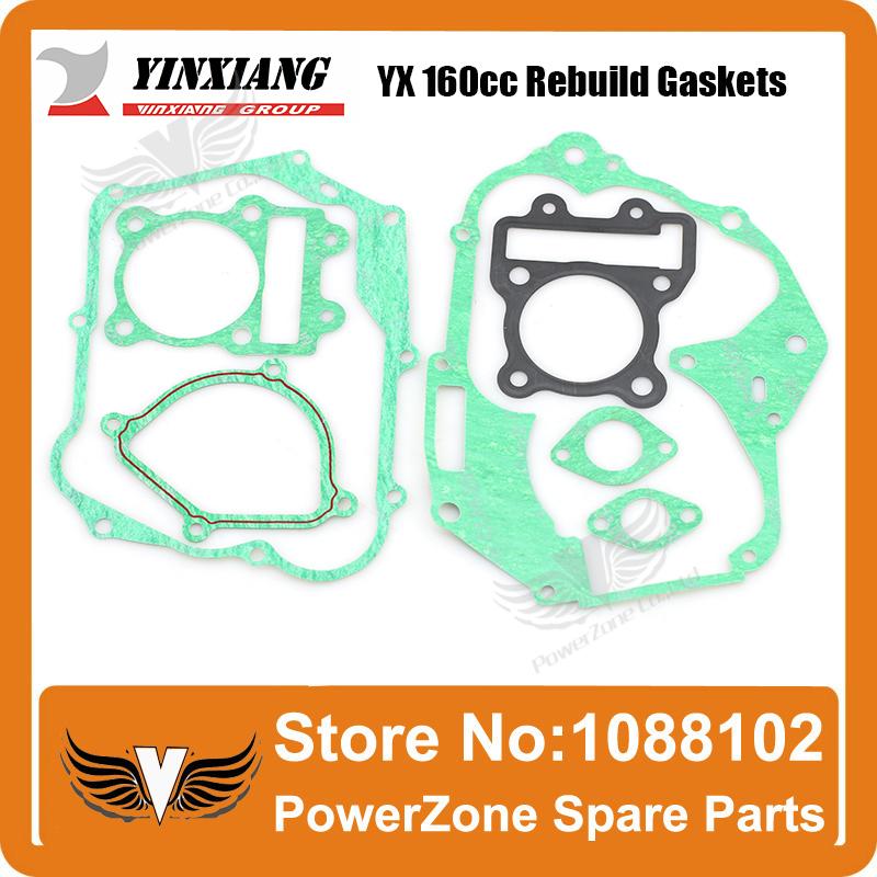 YinXiang YX 160cc Rebuild Gasket Fit To KAYO IRBIS GPX PIT PRO Dirt Bike Pit Bike Engine Free Shpping(China (Mainland))