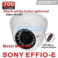 New! Sony Effio-E CCD 700TVL 960h CCTV Indoor dome security camera 2.8-12mm Varifocal lens IR Camera+Free shipping