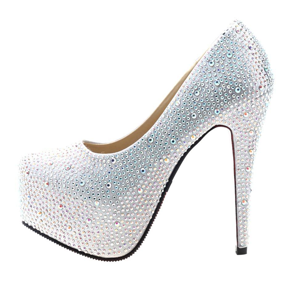Cute Silver High Heels