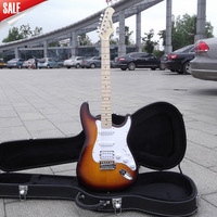Electric Guitar China musical Instruments ST Electric Guitar guitarra sunburst color  without Case EMS Free shipping