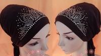 (free shipping)muslim underscarf ,hijab cap ,hijab cap with bead ,mixed colors