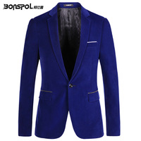 Men Blazer Casul Suit Spring male casual Slim Fit Jacket New Fashion Party Suit Coat Blue Black XS S M L XL XXL A0048