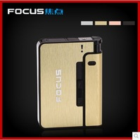 Retail 1pcs Premium Automatic aluminium alloy Cigarette Dispenser 4colors to choose Cigarette Case F001