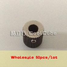 CoolCube Wholesale 50pcs/lot Makerbot MK7/MK8 3D Printer block Feeding wheel/Extruder drive gear