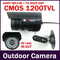 Megapixel Sony 1200TVL 3.6mm Lens Outdoor Waterproof Video Surveillance IR-CUT Filter Night Vision IR CCTV Camera Security
