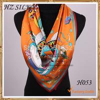 2014 winter pure silk orange cartoon fish scarf kids apparels free shipping