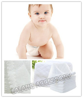 1pack/lot (10pcs) Baby Washable Reusable 3 Layers Baby Cloth Diaper Insert Super Absorbency Microfiber Nappy Liners 870115