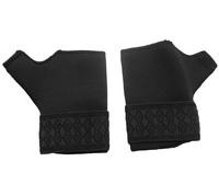 Black Neoprene Adjustable Wrist Thumb Hand Support Brace Glove Sports Gym 1 Pair