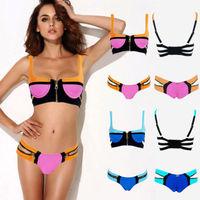 2014 Women's Bandage Bikini Set Push-up Padded Bra Swimsuit Bathing Suit Swimwear