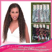 Hot Selling X-pression Ultra Braid Synthetic Hair Extensions 100% Kanekalon Free Shipping 82 inch 1pcs 200-210g