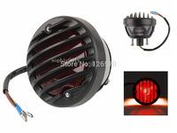 FREE SHIPPING Motorcycel Black Round Tail Brake Light For Harley Sportster Bobber Custom Chopper XL