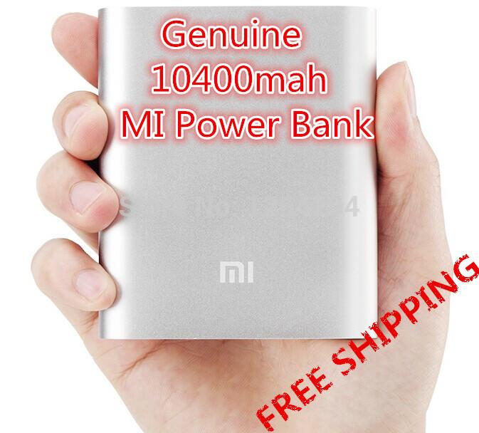 Original Xiaomi power bank 10400mah MI 10400 powerbank USB external portable battery charger mobile phone backup power supply(China (Mainland))