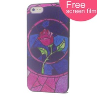 Free screen film Relief painting case covers  for iphone 5 Case