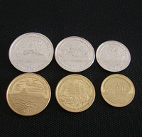 6 different design Free shipping wholesale 6pcs/ lot Replica 300 Years of the Russian Navy, 1996 LMD commemorative coin