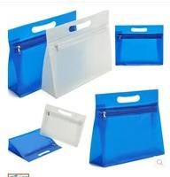 Waterproof cosmetic bag folding portable PLASTIC storage bag PVC wash bag