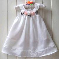 Free Shipping 2014 New Cute White Sweet Flower Girl's Dresses Baby Girls Summer Dress Children's One-piece Dress Clothing Gift