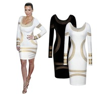 Summer Dress 2014 Fashion Casual Women Clothing Sexy Dress Print Bodycon Bandage Pencil Dresses Vestidos Red White S-XXL # 2800
