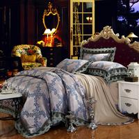2014 HOT SALE lace Bedding sets king size 4pc jacquard comforter bedding sets king size bedclothes bed linen