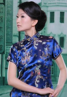 2014 Retro Fashion Plum Blossom Print Women Summer Qipao National Trend Chinese Dragon and Phoenix Style Cheongsam Shirt Tops!