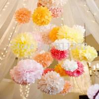 10pcs/lot 15cm(6 inch),Pom Poms, Tissue Paper Flower Ball Party Decorations Paper Flower,Wedding Party Home Decoration