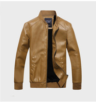 New 2014 jaquetas de couro male leather motorcycle casual clothing winter man plus size for harley autumn thicken jacket D352