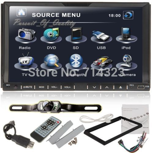 """Free Camera+Double 2 Din 7"""" In Dash Stereo Car DVD Player GPS Navigation Bluetooth Radio iPod SD/USB (Optional Android Car PC)(China (Mainland))"""