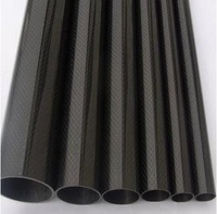 Free shipping CRF tube, size(OD*ID*length unit mm):50*46*500, 3K plain carbon fiber tube, plain shining surface, black colour