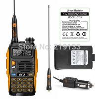 walkie talkie Baofeng GT-3 Mark II,not cb radio, + Extra Battery V/U dual band Ham Two way Radio