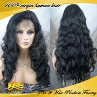 Fashion Queen women glueless unprocessed virgin brazilian full lace wig & human hair front lace wigs wavy wigs in stock