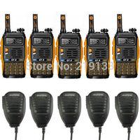 5x Baofeng GT-3 Mark II  + 5x Speakers V/U radio scanner