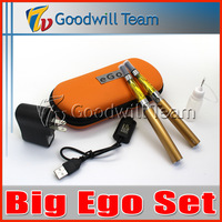 Reasonable Big Ego CE4 Set Double  kit 2 CE4 atomizer 2 batteries in  eGo zipper case  battery Electronic Cigarette set series