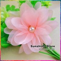 Sunshine store #8W0004 24pcs/lot  pink pearl  Flower Headbands shoes dress bag Hair band Accessories Children CPAM