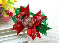 "10 pcs 3.5"" Bottle Caps bows frozen Elsa Anna hair headband bows boutique hair clips flower kid Christmas  gift hair accessories"