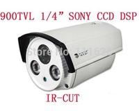 "Wholesale - Full HD 900TVL 1/4"" SONY CCD DSP IR Security Camera 4/6/8/12mm Lens Color CCTV Waterproof Camera"