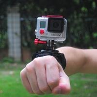 GoPro 360 Degree Rotary Wrist Mount with Comfortable Velcro Wrist Protector Strap For GoPro Hero 3/ 3+ SJ4000 / SJ5000