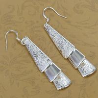E015 Wholesale 925 sterling silver earrings, 925 sterling silver fashion jewelry, Triple Pieces Earrings for women Christmas