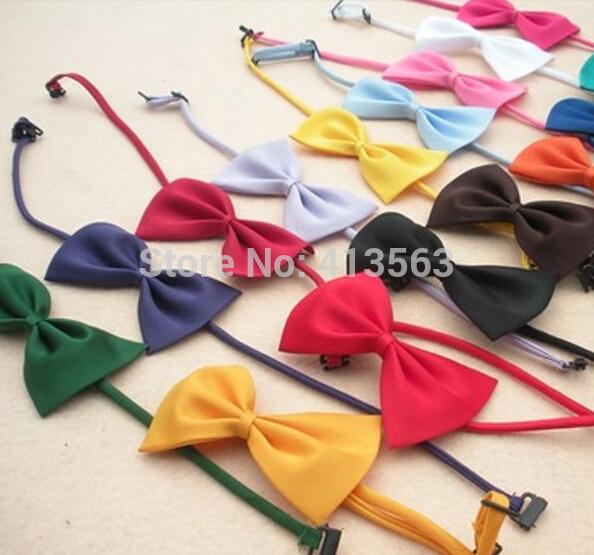 1pcs/lot Multicolor Dog neck tie Dog bow tie Cat tie Pet grooming Supplies Pet headdress Bowtie ncektie 2015(China (Mainland))