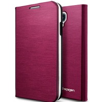SGP SPIGEN Case For Samsung Galaxy S4 SIV i9500 i9508 Flip Wallet Cover Brush Leather Protective Skin Carry Bag Shell RCD04105
