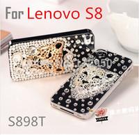 Luxury rhinestone fashion tiger leopard case For Lenovo S8 S898T MTK6592 Phone