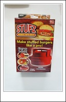 Free Shipping 80pcs Wholesale Stufz Stuffed Burger Press Maker Grill as Seen on TV Products Patties Kitchen Tools Grill Plate