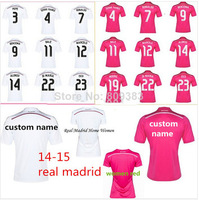 The best Thai thailand quality jersey real madrid 2015 camiseta real madrid 14 15 away pink real madrid jersey ronaldo bale