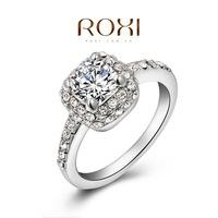 ROXI Christmas gift xurious wedding rings,top quality CZ diamond genuine SWR crystal, 100% hand made fashion jewelry,2010019445
