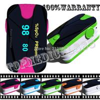 10 pcs/lot Anti-scratch screen Alarm setting pulse oximeter spo2 pr blood oxygen monitor 5 colors 4 display directions 6 modes