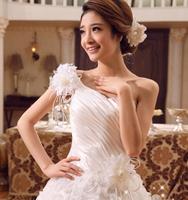 2014 New Designer flowers vestidos de noiva Bridal Gown  Women Princess Wedding Dresses jogos de vestir noivas WH06