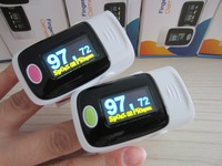 2015 pulse oximeter blood oxygen monitor heartbeat/homecare SPO2 PR OLED 5 colors 4 directions 6 modes FDA CE10 pcs/lot