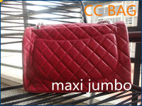 New Fashion bag 5a quality large size 33cm CC maxi jumbo style fuchsia hot pink caviar leather double C Flaps Free shipping