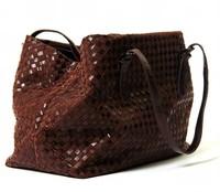 Free shipping 2014 shoulder bag genuine leather female big bag fashion knitted women's cross-body handbag cowhide women's bags