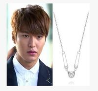 Korean Fashion Jewelry 2014 Successors Lee Min Ho Male Panda Pin Pendant Necklace Long Chain
